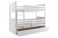 Etagenbett Joko in Weiß mit Bettkasten in verschiedenen Farben