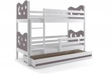 Etagenbett Stasy in Weiß mit Sternen und Bettkasten