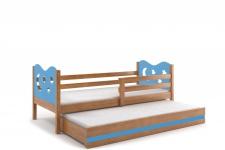 Kinderbett Stasy in Erle mit Sternen und Gästebett