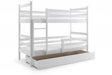 Etagenbett Dario in Weiß mit Bettkasten inkl. Lattenrost und Matratze
