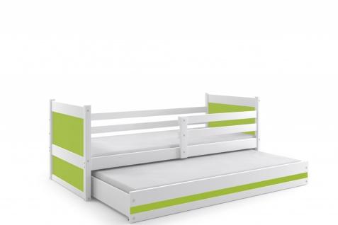 Kinderbett Joko in Weiß mit Gästebett in verschiedenen Farben