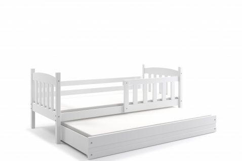 Kinderbett Shelly im Landhausstil in Weiß
