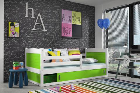 Kinderbett Joko mit Bettkasten in Weiß
