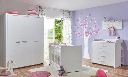 Babyzimmer Set 5-teilig Carina in edlem Weiß