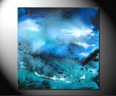 """Fiona Ritz """"BLUES"""" Moderne Kunst, Bild auf Leinwand"""