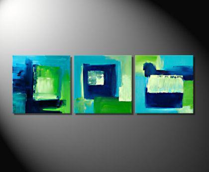 Fiona ritz spring moderne abstrakte malerei kaufen for Acrylmalerei ideen