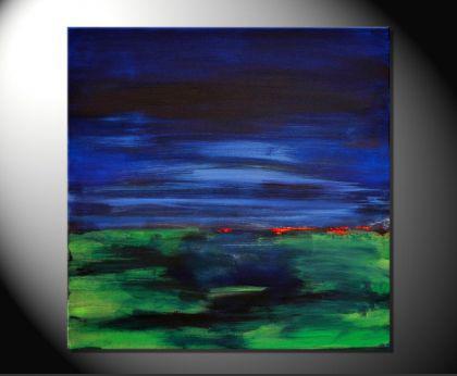 abstrakte malerei kaufen 140 x 160 cm t rkis gr n gelb rot. Black Bedroom Furniture Sets. Home Design Ideas