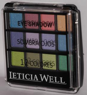 Eyeshadow Palette mit 12 Farben und Pinsel