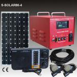 Solar Strom und Beleuchtung für kleines Haus 100W