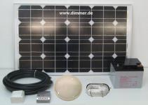 PV Solarbeleuchtung für Gartenhaus