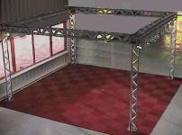 Traversen-Messestand 2, 5 x 5, 0 Meter mit Stromschiene