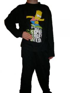 Simpsons Kinder Pyjama Schlafanzug Skateboard - Vorschau 1