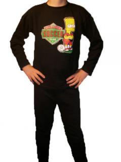 Simpsons Kinder Schlafanzug Pyjama Soccer - Vorschau 1