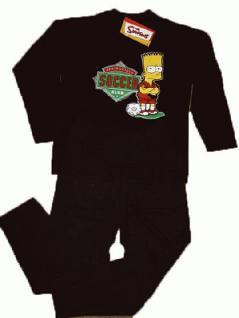 Simpsons Kinder Schlafanzug Pyjama Soccer - Vorschau 2