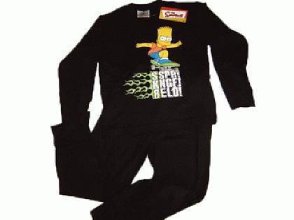 Simpsons Kinder Pyjama Schlafanzug Skateboard - Vorschau 2