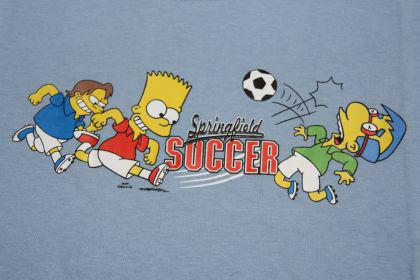Simpsons Kinder T-Shirt Springfield Soccer 2
