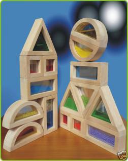 Holz Bauklötze 16er Set MAXI GROß mit Füllung