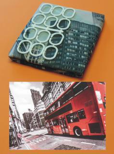 Textil DUSCHVORHANG Motiv LONDON 180 x 180cm mit 12 HAKEN