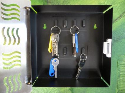 Schlüsselkasten Schlüsselbox aus EDELSTAHL mit Magnetverschluß - Vorschau 3
