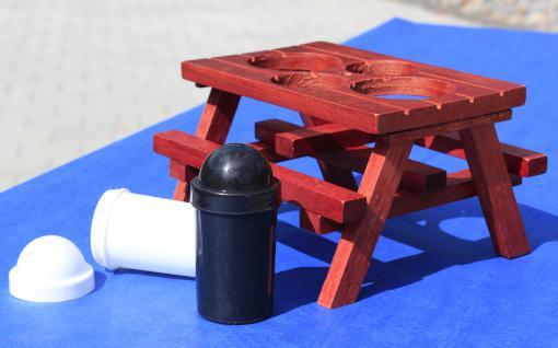 XL Gewürzständer SET Höhe 41cm mit Sonnenschirm + HOLZ-Picknicktisch - Vorschau 3