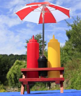 XL Gewürzständer SET Höhe 41cm mit Sonnenschirm + HOLZ-Picknicktisch - Vorschau 2
