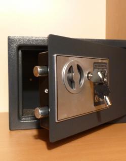 ELEKTRONISCHER SAFE WANDTRESOR MÖBELTRESOR mit Zahlenschloss + Schlüssel - Vorschau 2