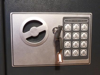 ELEKTRONISCHER SAFE WANDTRESOR MÖBELTRESOR mit Zahlenschloss + Schlüssel - Vorschau 3