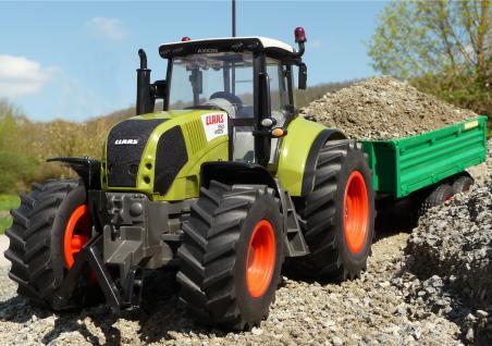 "RC Traktor CLAAS Axion 850 + Anhänger in XL Länge 72cm ""Ferngesteuert"""