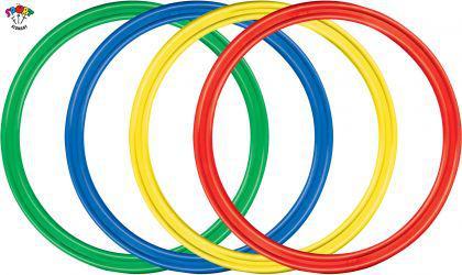 "Kinder Hula Hoop Reifen Gymnastikreifen Hula Hup 50 cm ""4er Set"""