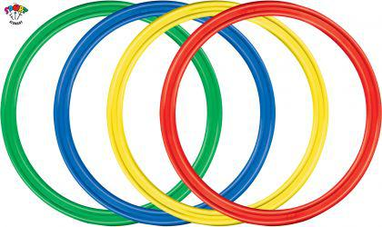 "Kinder Hula Hoop Reifen Gymnastikreifen Hula Hup 70 cm ""4er Set"" - Vorschau"