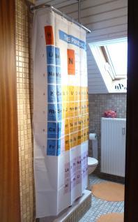 Textil DUSCHVORHANG Motiv PERIODENSYSTEM 180 x 180cm mit 12 HAKEN - Vorschau 2