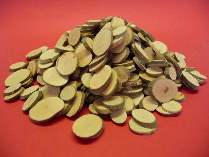 NATUR Holzscheiben 1Kg Durchmesser von 1, 5 bis 3cm