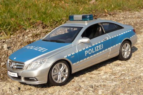 "RC Mercedes E350 POLIZEI COUPE mit SIRENE 30cm ""Ferngesteuert 27MHz"""