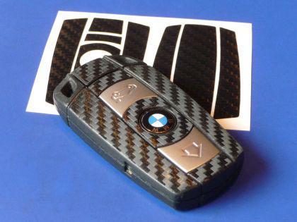 CARBON Schlüssel-Dekor für BMW 1er 3er 5er - Vorschau 1