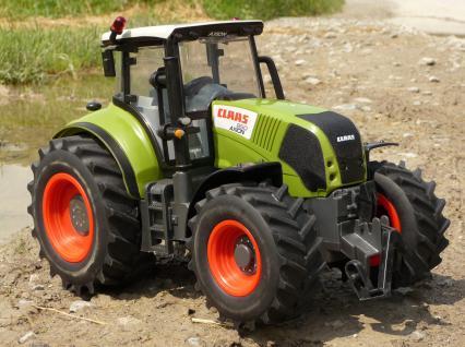 "RC Traktor CLAAS Axion 850 in XXL Größe 35cm ""Ferngesteuert 27MHz"""