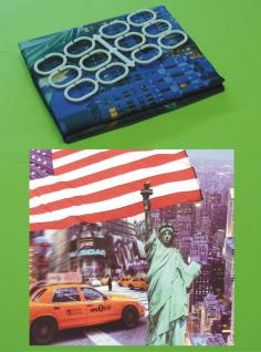 Textil DUSCHVORHANG Motiv NEW-YORK CITY 180 x 180cm mit 12 HAKEN