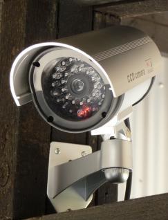 """LED VIDEO BLINKENDE Überwachungskamera ATTRAPPE """"TÄUSCHEND ECHT"""""""