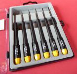 MINI Sechskant SCHRAUBENDREHER 6 teilig von 0, 7 bis 2, 5mm in TOP QUALITÄT 280-63