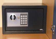 ELEKTRONISCHER SAFE WANDTRESOR MÖBELTRESOR mit Zahlenschloss + Schlüssel