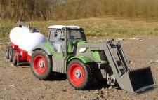 """RC Traktor + Fass-Anhänger Länge 54cm TOP QUALITÄT """"Ferngesteuert 27MHz"""""""