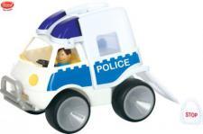 "GOWI Polizei Auto Polizeiauto Sandkasten ""Gummibereifung"" Top Qualität"