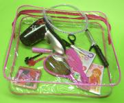 Kinder FRISEUR BEAUTY Spielzeug SET mit FUNKTIONS-FÖN & TASCHE