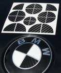 CARBON Emblem ECKEN-Dekor für alle BMW