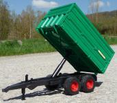 DOPPEL-BORDWAND ANHÄNGER Größe 37cm für RC Traktor in TOP QUALITÄT