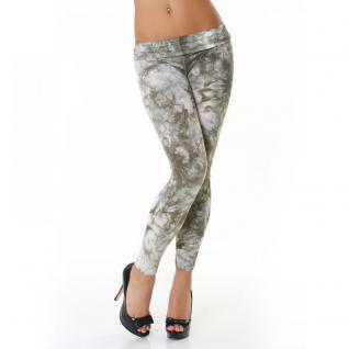 Stylische Damen Leggings Marmor Batik Look Onesize 34/36/38