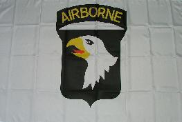 Flagge Fahne 101st Airborne weiß 90 x 150 cm