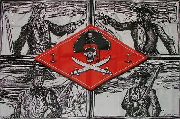 Flagge Fahne Vier berühmte Piraten 90 x 150 cm