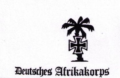 Flagge Fahne Deutsches Afrikakorps 90 x 150 cm