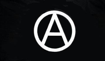 Flagge Fahne Anarchie schwarz 90 x 150 cm - Vorschau