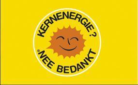 Flagge Fahne Atomkraft Nein Danke! holländisch